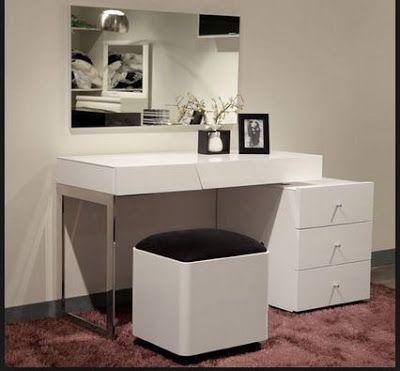 Modern White Dressing Tables For Bedroom Minimalist Interiors 2019