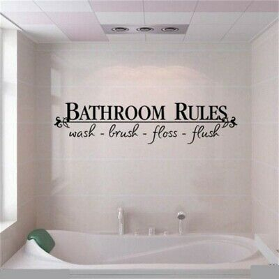 Wall Sticker Bathroom Rules Quote Phrase Decal Black Vinyl Toilet Washroom Decor Fashion Home Garden Homedcor Decalsstickersvinylart In 2020 Bathroom Rules Home Decor Uk Wall Stickers Home