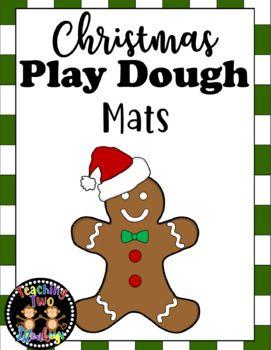 Christmas Play Dough Mats Christmas Play Playdough