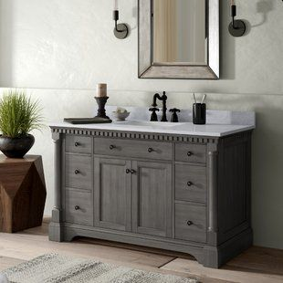 48 Inch Bathroom Vanities You Ll Love Wayfair Bathroom Vanity Single Bathroom Vanity Vanity