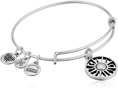 CustomCharms California State Expandable Wire Charm Bracelet Bangle w//Black Color Crystals