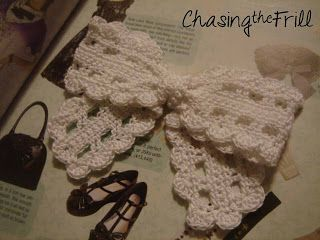"""Best Free pattern/pic tutorial for """"Lace Bow""""! I've ever found! Love this! SO many ways it can be used!"""