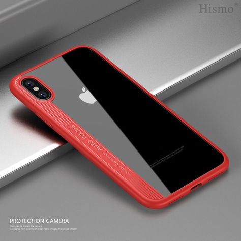 20b9605a9d3 Protective Iphone Cases Ideas  ProtectiveIphoneCases  Protectivecase   IphoneCases For iPhone XS Max Red Slim Soft Protective Rubber Clear Hybrid  Armor Case ...