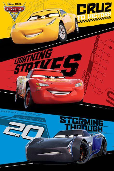 Details About Cars 3 Disney Pixar Movie Poster Trio