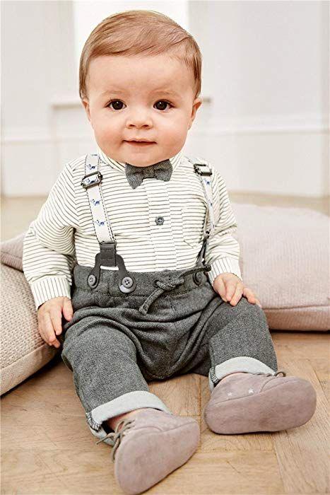 Kinder Baby Kleinkind Jungen Gentleman Baumwolle Mit ärmeln