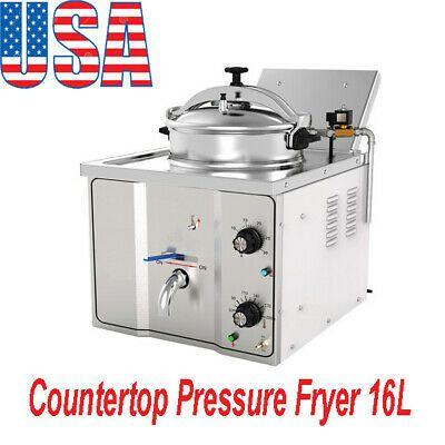 Details About Ups Ship 16l Commercial Electric Pressure Fryer 110v 220v 2400w For Restaurant Pressure Fryer Commercial Electric Electricity