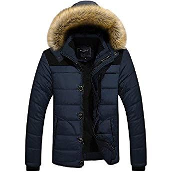 Ohmais Herren Winter Jacke Ubergangsjacke Daunen Hoodie Parka Kapuzenjacke Mantel Wintermantel Mit Kapuze Amazon Warme Winterjacke Herren Winter Manner Jacken