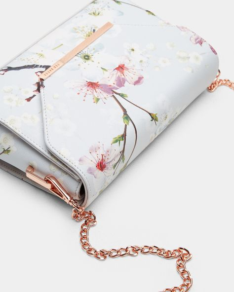 Ted Baker Hadly Oriental Blossom Cross Body Bag available at Willow Grey Bags, Stylish Backpacks, Designer Crossbody Bags, Mode Streetwear, Small Shoulder Bag, Cute Bags, Luxury Bags, Purses And Handbags, Fashion Bags