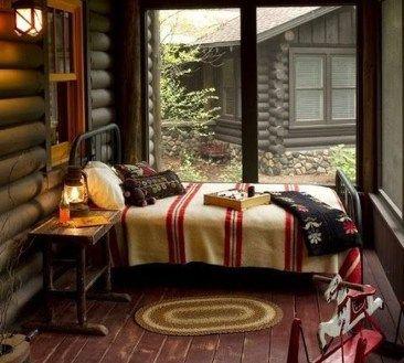 Amazing Rustic Lake House Bedroom Decoration Ideas 07 Cabin
