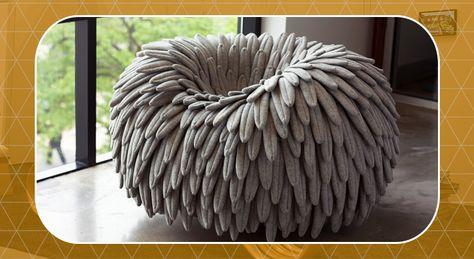 Gevlochten Knotty Poef : Knotty gevlochten poef kumeko x6lifestyle small u20ac257 large u20ac450