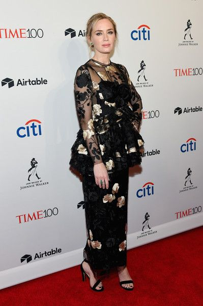 Actor Emily Blunt attends the 2018 Time 100 Gala.