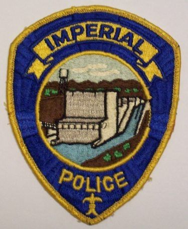 Us State Of California City Of Imperial Police Department Patch