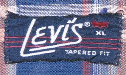vintage levis shirt tags