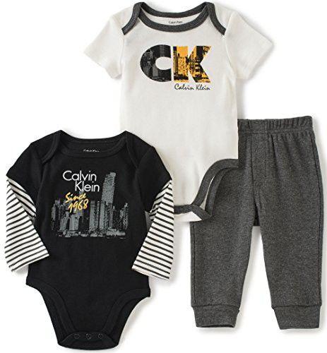 Calvin Klein Baby Boys Thermal Bodysuit Pants Set Baby Boy 0 24 Months Kids Baby Macy S Baby Clothes Baby Boy Outfits Calvin Klein Baby