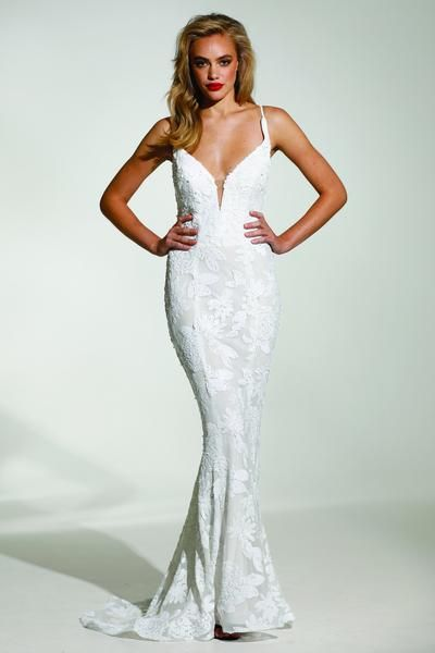 0f97e53f1c Tinaholy Couture T1834 White Sequin Mermaid Formal Prom Gown Dress ...