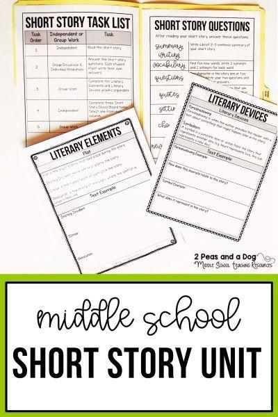 Short Story Unit 1 Short Story Units Middle School