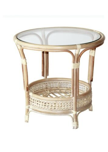 Details About Pelangi Coffee Table With Glass Top Natural Wicker