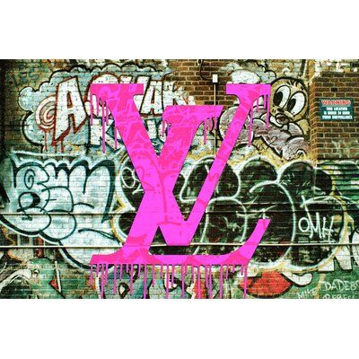 Louis On The Wall Graphic Art On Canvas In Pink Size 24 H X 36 W X 2 D Graphic Wall Art Pink Canvas Art Graphic Art Print