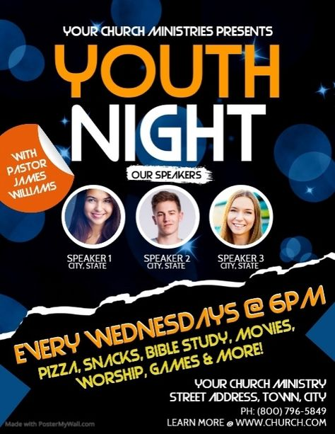 Youth Church Flyer Church Youth Group Flyer Template Church Poster Design