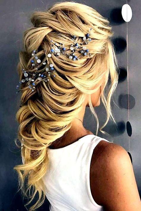 33 Wedding Hairstyles With Hair Down ❤ wedding hairstyles down long blonde hair cascading hair with blue accessory t_samaluk #weddingforward #wedding #bride #weddinghairstyles #weddinghairstylesdown