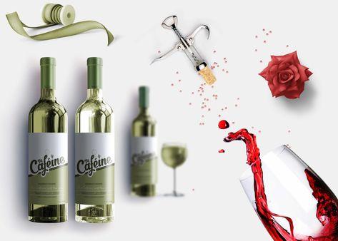 Grape Wine Bottle Design PSD Mockup Download   DesignHooks