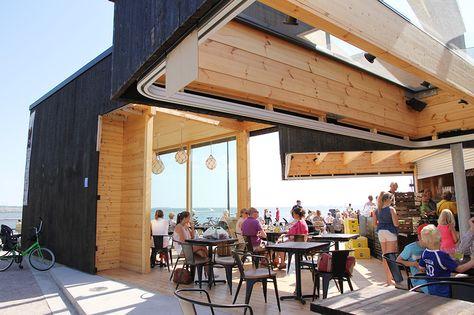 Helsinki, Hernesaari; restaurant + café Birgitta  By hunajaista