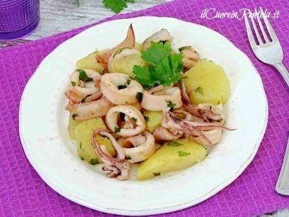Calamari E Patate Ricetta Calamari E Patate Il Cuore In Pentola Ricetta Ricette Ricette Di Cucina Calamari