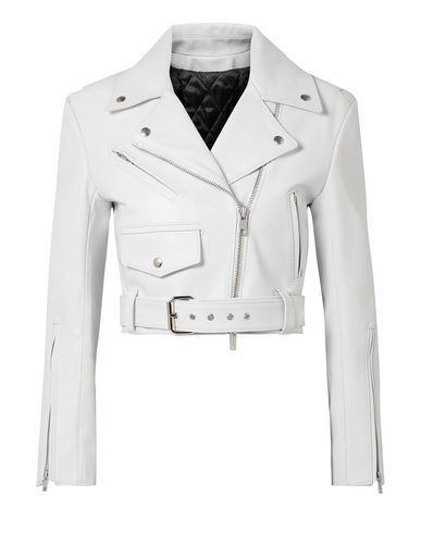 Calvin Klein Women Biker Jacket on YOOX. The best online selection of Biker Jackets Calvin Klein YOOX exclusive items of Italian and international designers - Secure payments Cl Fashion, Fashion Outfits, Lolita Fashion, London Fashion, Modest Fashion, Stylish Outfits, Style Fashion, Fashion Tips, White Cropped Jacket