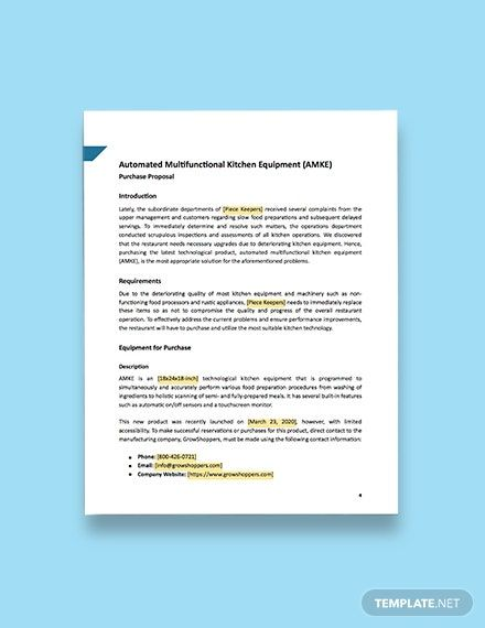 Equipment Purchase Proposal Template Free Pdf Google Docs Word Apple Pages Template Net Proposal Templates Proposal Org Chart