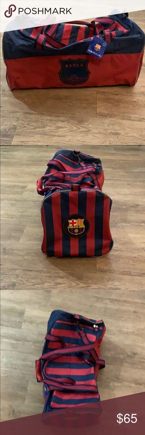 "🔥⚽️FCB Barcelona Duffel Bag⚽️🔥 FCB Barcelona Duffel Bag Official Profuct New/Unused with tags 20""x10""x10"" FCB Barcelona Official Product Bags Duffel Bags"