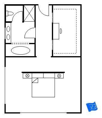 Master Bedroom Floor Plan Souped Up Hotel Room Layout 1000 Planos De Dormitorios Planos De Dormitorio Principal Habitacion En Suite
