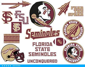 Seminoles Svg Florida State Seminoles Svg Seminoles Clipart Florida State Svg Fsu Svg Raster Vector File Cricut Crafts Fsu Silhouette Cameo Projects