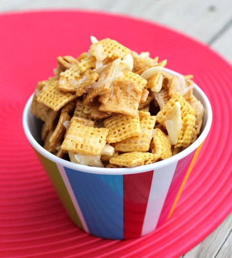 Gooey Sweet Coconut Chex Mix (The Bomb Diggity)