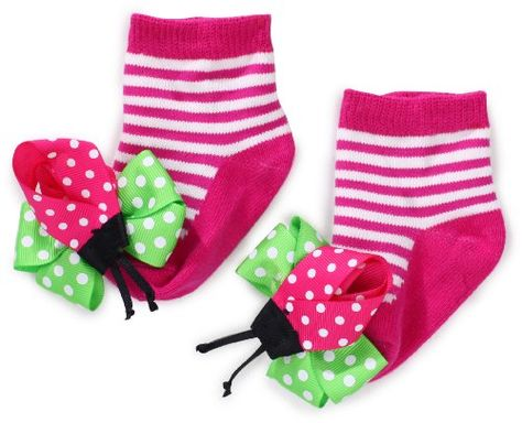set of 2 Mud Pie Baby Tiny Dancer Socks 2 Asst 0-12 Months