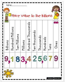 6 Free Printable Place Value Worksheets Place Value Charts to the Billions FREE ❤❤❤TPT Featured √ Free Printable Place Value Worksheets . 6 Free Printable Place Value Worksheets. A Free Printable Place Value Worksheet for Grade Math Place Value Games, Place Value Chart, Place Value Worksheets, Place Value Activities, Addition Worksheets, Teaching Place Values, Teaching Math, Teaching Ideas, Teaching Tools