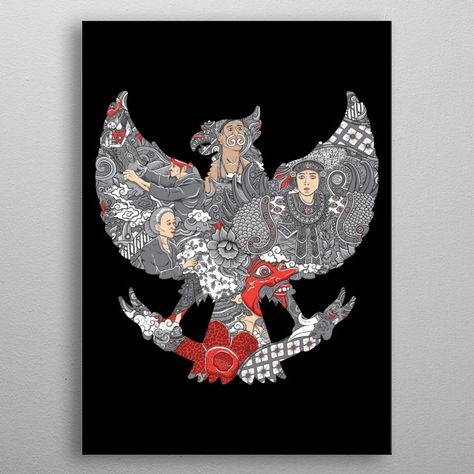 Amazing Indonesia Culture Inspirational Poster Print Metal