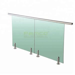 12mm Tempered Glass Spigot Round Shape Glass Fence Holder Frameless Glass Railing In 2020 With Images Glass Fence Railing