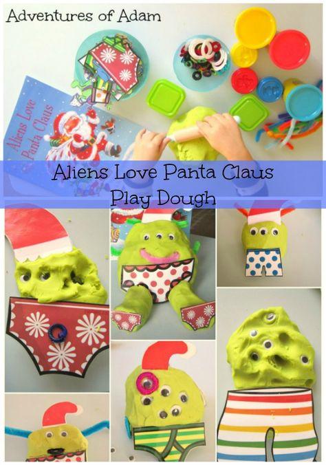 Day 4 - Play Dough  Aliens Love Panta Claus Play Dough | http://adventuresofadam.co.uk/aliens-love-panta-claus-play-dough/