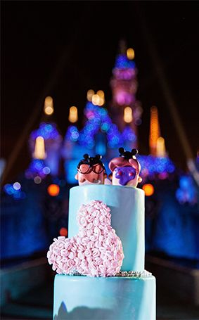 The Cake Was Pineapple Whip Flavored Disneyland Wedding Anniversary With