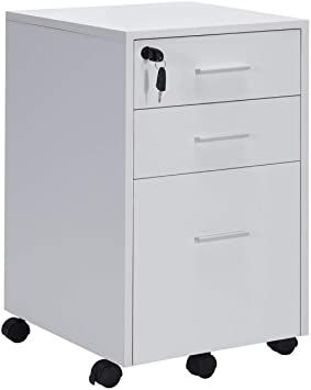 Vicllax 3 Drawer Mobile File Cabinet Lockable Under Desk Storage For Home Office Fully Assembled Except Under Desk Storage Filing Cabinet Mobile File Cabinet