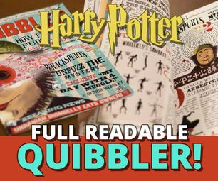 image relating to Quibbler Printable called The Quibbler - Total Readable Journal halloween Harry