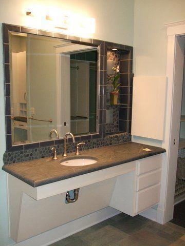 Fruitful Counseled Bathroom Renovation By Appointment Only Ada Bathroom Bathroom Furniture Vanity Handicap Bathroom Design