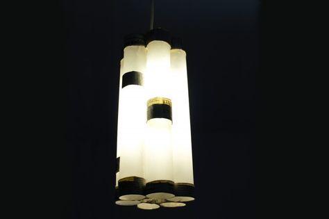 doorzichtig papier, wc rol en lamp