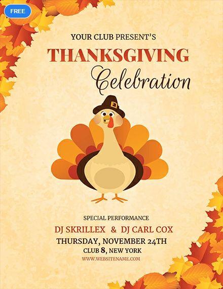 Free Dj Thanksgiving Flyer Free Flyer Templates Free Psd Flyer Templates Flyer Template