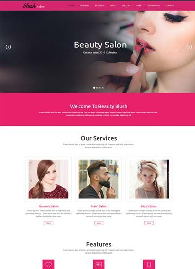 Beauty Salon Responsive Website Template Free Download Beauty Salon Beauty Blender Video Beauty
