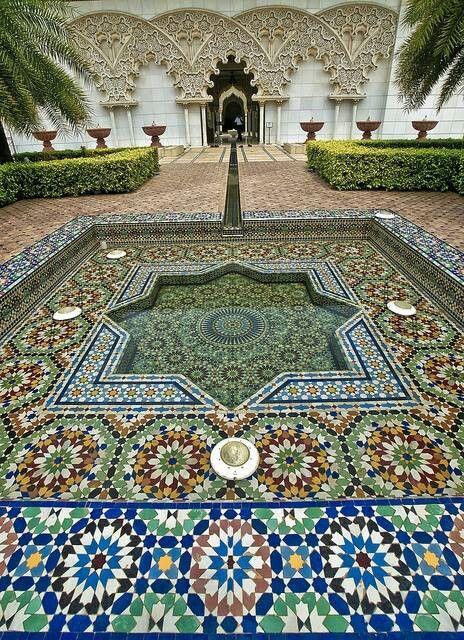 Beautiful Moroccan water feature. Water Features by Darin Bradbury.