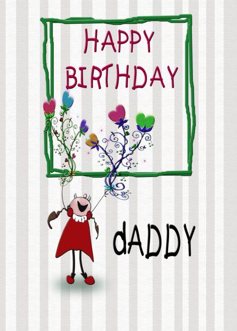 Happy Birthday Daddy From Daughter Cartoon Girl Card Ad Affiliate Daddy Birthday Happy Birthday Daddy Happy Birthday Wishes Dad Happy Birthday Wishes