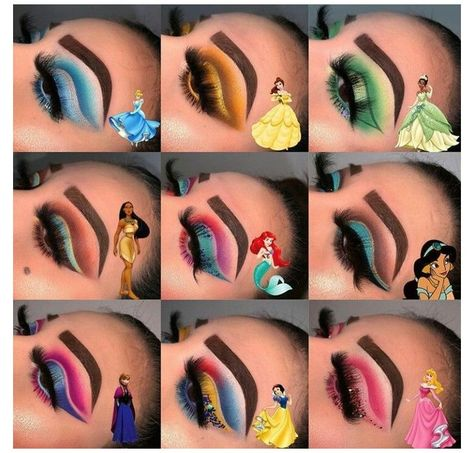 Disney Eye Makeup, Disney Inspired Makeup, Disney Princess Makeup, Eye Makeup Art, Colorful Eye Makeup, Scary Makeup, Eyeshadow Makeup, Pocahontas Makeup, Makeup Eyebrows