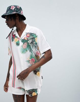 Buy Jaded London Floral Print Shirt With Side Stripe at ASOS. With free delivery and return options (Ts&Cs apply), online shopping has never been so easy. Get the latest trends with ASOS now.