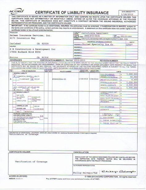 Car Insurance Certificate Template Fresh Liability Insurance